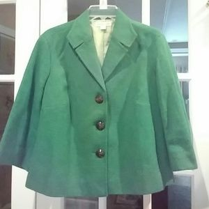 Coldwater kelly green spring jacket EUC 16P